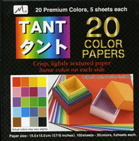 "TANT Double-Sided Assorted 3"" Same Color 20-color 100 Sheets"