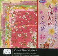 "Cherry Blossom Washi 4.75"" 7 Sheets"