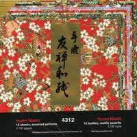 "Yuzen Washi 6"" 12 Sheets"