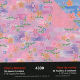 "Double-Sided Cherry Blossom 6"" 25 Sheets"