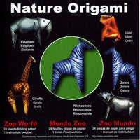 "Nature Origami--Zoo World 6"" 24 Sheets"