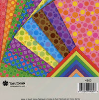 "Double-sided Dots 6"" 10 patterns; color back; 20 sheets"