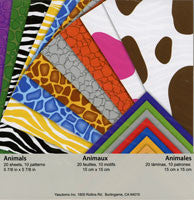 Double-sided Animals 10 patterns; color back; 20 Sheets
