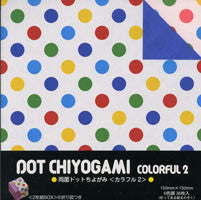 "Double-Sided Colorful Dot II 6"" 36 Sheets"