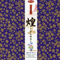 "Kirameki Washi--gold flowers 6"" 8 Sheets"