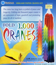 Construction of 1000 origami folding paper cranes on a wired tree ... | 250x215