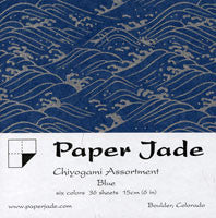 Chiyogami Assortment--Blue 15cm 36 Sheets