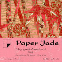 Chiyogami Assortment--Pink 15cm 36 Sheets