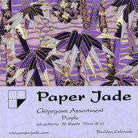 Chiyogami Assortment--Purple 15cm 36 Sheets