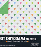 "Double-Sided Colorful Dot 6"" 36 Sheets"
