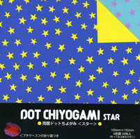 "Double-Sided Dot Chiyo Star 6"" 36 Sheets"