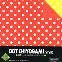 "Double-Sided Dot Chiyo Vivid 6"" 36 Sheets"