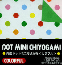 "Double-Sided Colorful Mini Dot 3"" 100 Sheets"