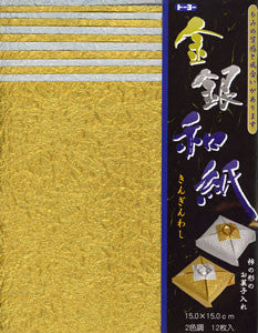 "Gold/Silver Momi 6"" 12 Sheets"
