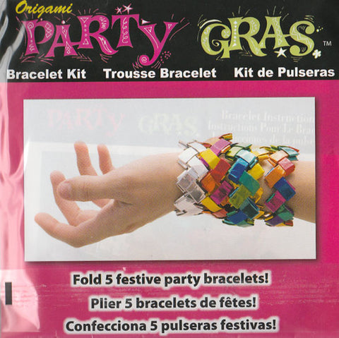 Party Gras Origami Bracelets (FOIL PAPER EDITION)