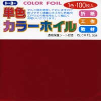 "Solid Red Foil 6"" 100 Sheets"