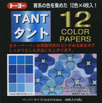 "TANT Double-Sided Assorted 13.8"" Blues 12 Sheets"