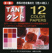 "TANT Double-Sided Assorted 13.8"" Reds 12 Sheets"