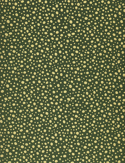 211C Yuzen Chiyogami--gold on green background