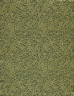 213-216C Yuzen Chiyogami--gold filigree flowers on green background