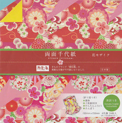 "Double-sided Ryomen Chiyogami II 6"" 24 Sheets"