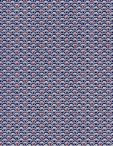 759C Yuzen Chiyogami--traditional pattern in blue and white with hints of red