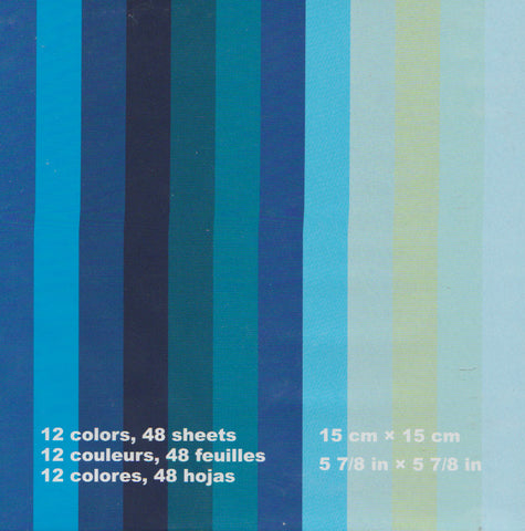 "Assorted Solid Colors 6"" Blues 48 Sheets"