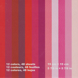 "Assorted Solid Colors 6"" Red 48 Sheets"