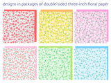 "Double-Sided Color Flora Mini 3"" 125 Sheets"
