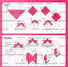 "Print Chiyogami and Diagram (instructions) 6"" 32 Sheets"
