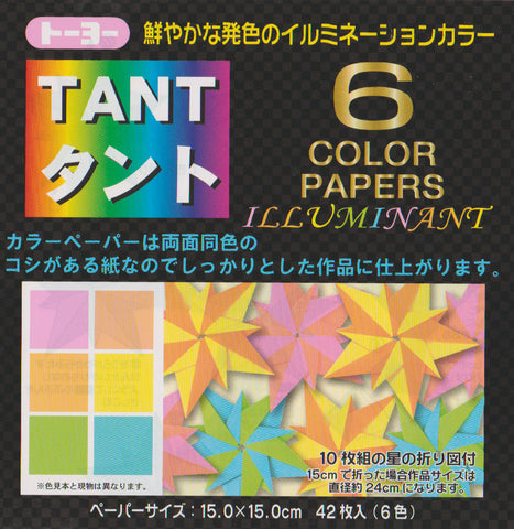 "TANT Double-Sided Assorted 6"" Illuminant 42 Sheets"