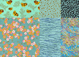 Chiyogami Assortment--Turquoise Too 15cm 36 Sheets