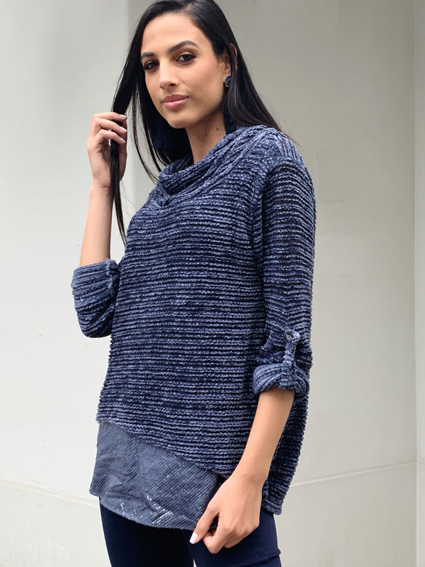SWEATER VOLENTIERI NAVY