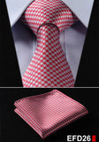 100% Silk Men Neck Ties and Pocket Handkerchief.-Neck Ties-Flying Ninja Fashion