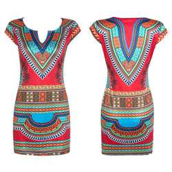 Women Summer Dashiki dress. latest Fashion Trend, vintage print. Free Shipping-Women Apparel-Flying Ninja Fashion