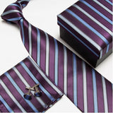 Men's Necktie Gift Set. Comes With Matching Cufflinks And Pocket Square.-Neck Ties-Flying Ninja Fashion