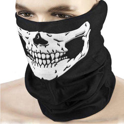 Outdoor Motorcycle Bicycle Ridding Masks Scarf, Half Face Mask. Cap Neck Ghost Skull For Party And Halloween