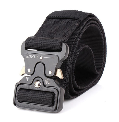 Tactical Military Belt. Nylon Material With Metal Buckle  In Army Style. Heavy Duty Soldier Combat Waist Belts.