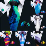 New Arrival Men Neckties. 100% Silk Men Ties 7 Colors. Print Ties For Men.