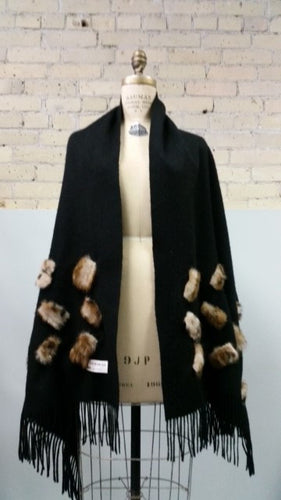 Black Wrap with Lynx - Sydney Gitterman Furs