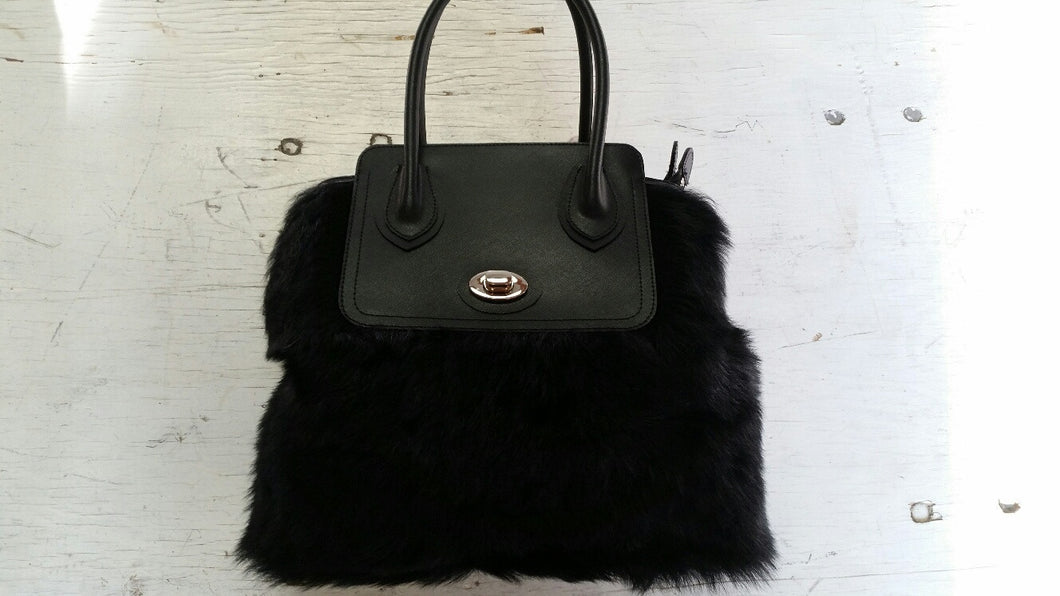 Tuscana Lamb and Leather Handbag
