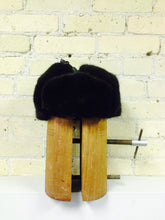 Black sheared and Long Haired Mink Trooper Style Hat
