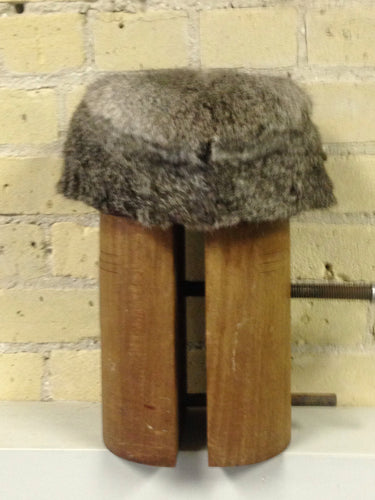 Chinchilla dyed Rabbit Fur Hat