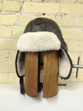 Brown Shearling Aviator Hat