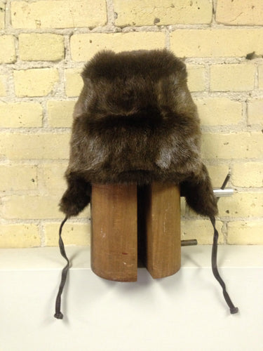 Russian Style Otter Hat with Leather Straps