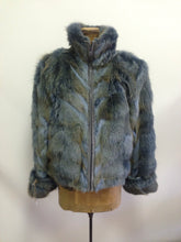 Dyed Sky Blue Coyote Jacket