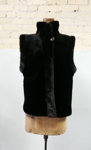 Reversible Sheared and Long Haired Mink Vest