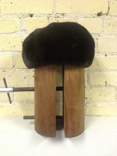 Natural Dark Ranch Mink Beret