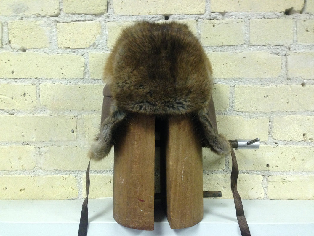Muskrat Hat with Flap Ears