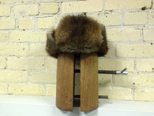 "Muskrat Hat with Flap Ears ""Jockey Style"""